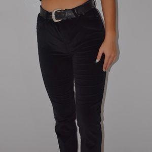 Black Velvet Straight Leg Jeans